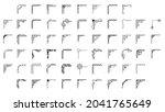 set hand draw of corners... | Shutterstock .eps vector #2041765649
