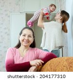 portrait of happy mature woman... | Shutterstock . vector #204177310