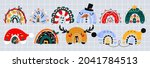 christmas rainbows. a large... | Shutterstock .eps vector #2041784513