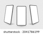 3d realistic smartphone mockup...   Shutterstock .eps vector #2041786199