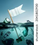 plastic waste floating in the...   Shutterstock . vector #2041802930
