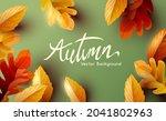autumn thanksgiving  background ...   Shutterstock .eps vector #2041802963