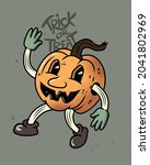 retro happy halloween jack o...   Shutterstock .eps vector #2041802969