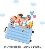 family going on a trip on the... | Shutterstock .eps vector #2041814060