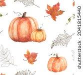 watercolor seamless pattern...   Shutterstock .eps vector #2041815440