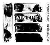 black paint  ink brush vintage...   Shutterstock .eps vector #2041860023