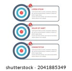 3 steps to your goal concept ... | Shutterstock .eps vector #2041885349