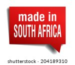 made in south africa red  3d... | Shutterstock . vector #204189310