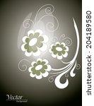 vector flowers. abstract... | Shutterstock .eps vector #204189580
