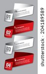 3d numbered banners. vector... | Shutterstock .eps vector #204189589