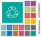 recycling outline multi colored ... | Shutterstock .eps vector #2041908593