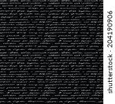 handwriting. seamless vector... | Shutterstock .eps vector #204190906