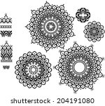 round ornament pattern with... | Shutterstock .eps vector #204191080