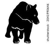 bear  wild animal living in...   Shutterstock .eps vector #2041990646