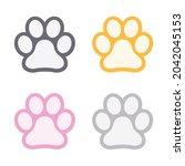 Cat Paw Print. Footprint....
