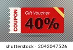 40  coupon promotion sale for... | Shutterstock .eps vector #2042047526