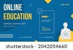 website banner template for... | Shutterstock .eps vector #2042054660
