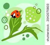Aesthetic Ladybug Abstract...