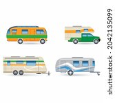 recreational car vehicle icons... | Shutterstock .eps vector #2042135099