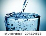 closeup of a refreshing glass...   Shutterstock . vector #204214513