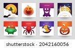 happy halloween design...   Shutterstock .eps vector #2042160056