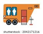 orange recreational vehicle... | Shutterstock .eps vector #2042171216