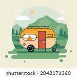 recreational vehicle in the... | Shutterstock .eps vector #2042171360