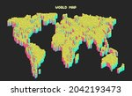 world map composed of countless ...   Shutterstock .eps vector #2042193473