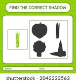 find the correct shadows game... | Shutterstock .eps vector #2042232563