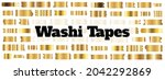 gold washi tape strips or washy ...   Shutterstock .eps vector #2042292869