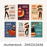 invitation flyers for mexican... | Shutterstock .eps vector #2042312636