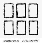 grunge frames. abstract vector... | Shutterstock .eps vector #2042320499