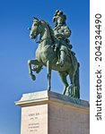 Statue Of The Sunking Louis 14...