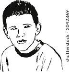 portrait of a boy | Shutterstock . vector #2042369