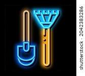 Shovel And Rake Neon Light Sign ...