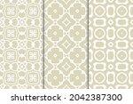 set of seamless geometric...   Shutterstock .eps vector #2042387300