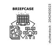 briefcase bag vector icon... | Shutterstock .eps vector #2042403023
