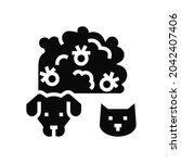 plague domestic animal glyph...   Shutterstock .eps vector #2042407406