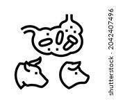 coli bacillus domestic animal...   Shutterstock .eps vector #2042407496
