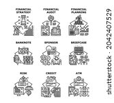 financial strategy set icons... | Shutterstock .eps vector #2042407529