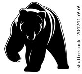 bear  grizzly  wild animal...   Shutterstock .eps vector #2042415959