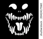 monster skeleton. toothy...   Shutterstock .eps vector #2042417060