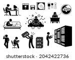 modern history information age  ... | Shutterstock .eps vector #2042422736