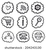 web and shopping icons set ...