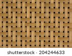 Texture Of Bamboo Weaving With...