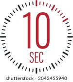 the 10 second  timer  stopwatch ...   Shutterstock .eps vector #2042455940