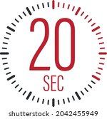 the 20 second  timer  stopwatch ...   Shutterstock .eps vector #2042455949