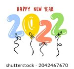 2022 happy new year greeting...   Shutterstock .eps vector #2042467670