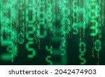 green matrix digital background....   Shutterstock .eps vector #2042474903