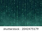 blue matrix digital background. ...   Shutterstock .eps vector #2042475179